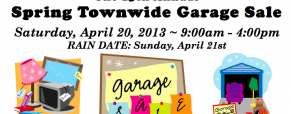 Metuchen Area Chamber of Commerce presents the 15th Annual Spring Townwide Garage Sale