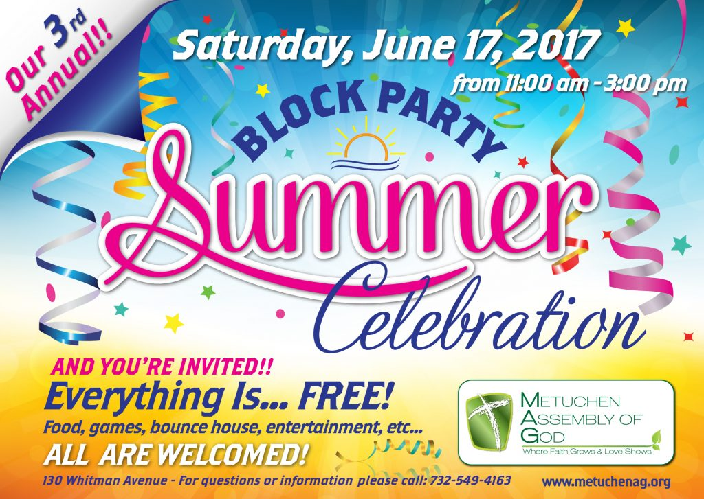 Metuchen Assembly of God\'s 3rd Annual Summer Celebration Block Party ...