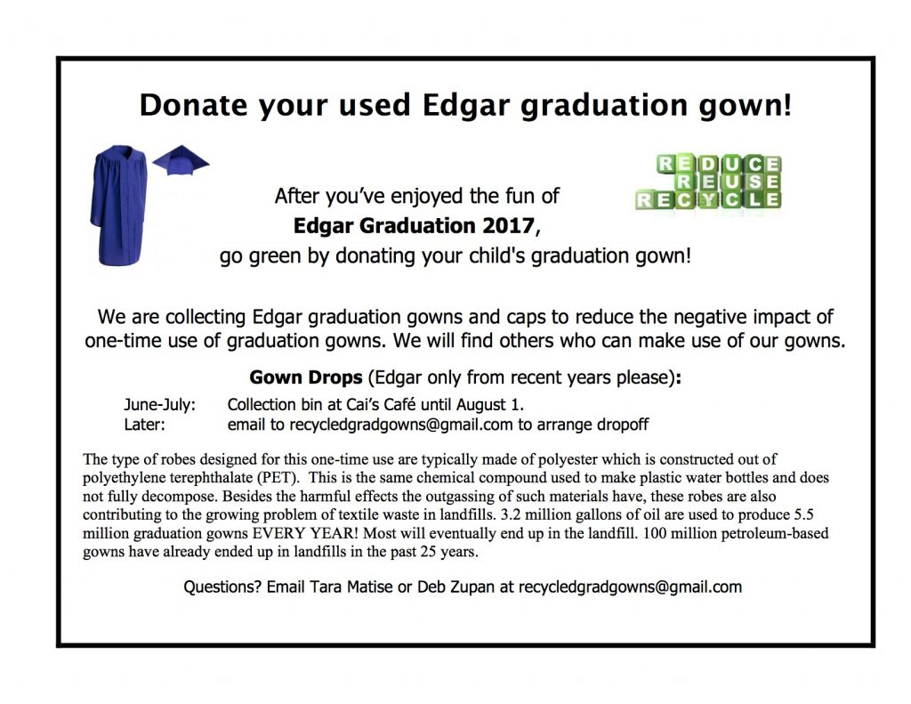 Donate your used Edgar graduation gown! – Metuchen Living