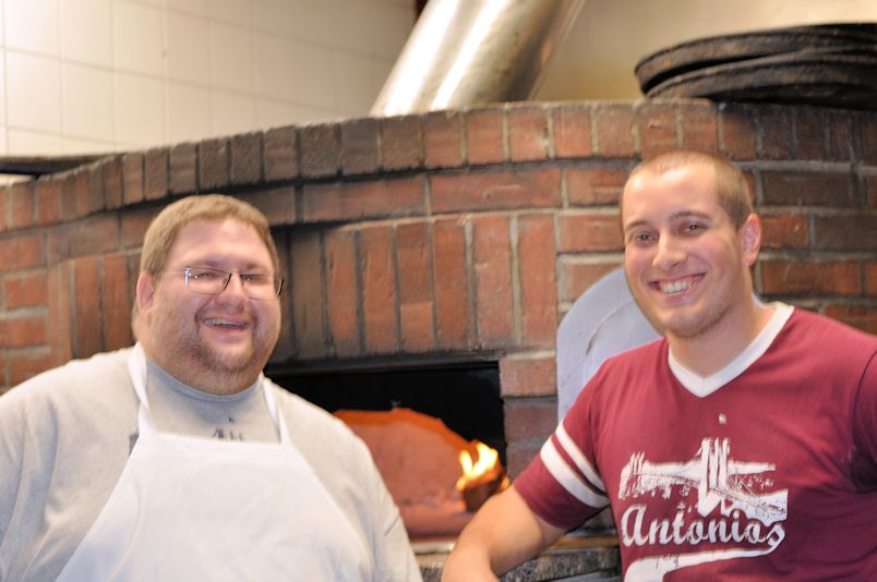 Jason Coppola on the left [quoted in press release] from Antonio's Brick Oven Pizzeria
